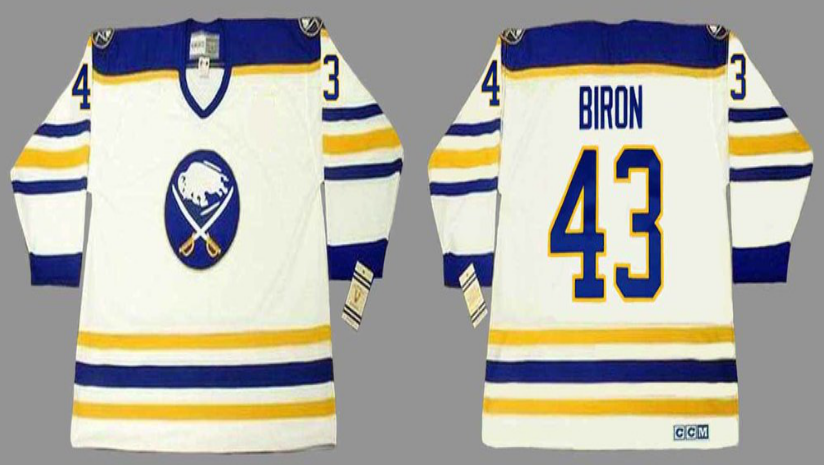 2019 Men Buffalo Sabres 43 Biron white CCM NHL jerseys