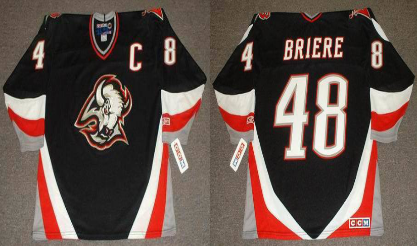 2019 Men Buffalo Sabres 48 Briere black CCM NHL jerseys