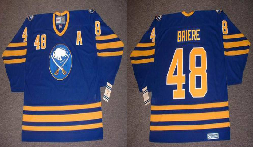 2019 Men Buffalo Sabres 48 Briere blue CCM NHL jerseys