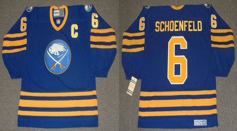 2019 Men Buffalo Sabres 6 Schoenfeld blue CCM NHL jerseys
