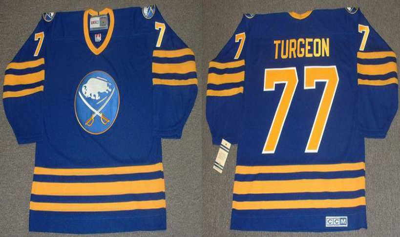 2019 Men Buffalo Sabres 77 Turgeon blue CCM NHL jerseys