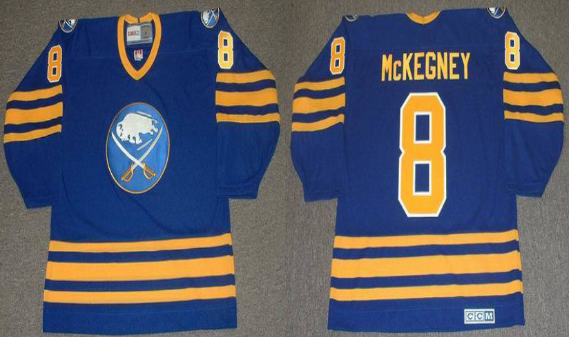 2019 Men Buffalo Sabres 8 McKEGNE BLUE CCM NHL jerseys