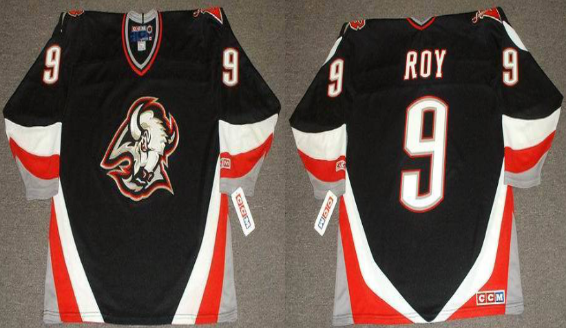 2019 Men Buffalo Sabres 9 Roy black CCM NHL jerseys