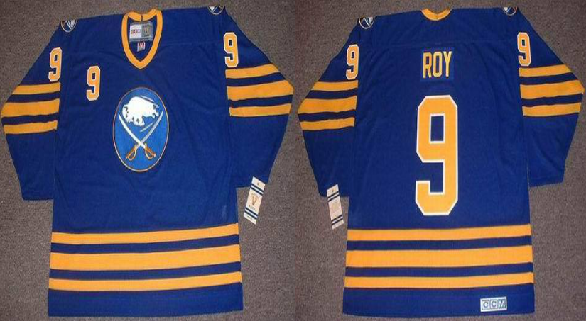 2019 Men Buffalo Sabres 9 Roy blue CCM NHL jerseys