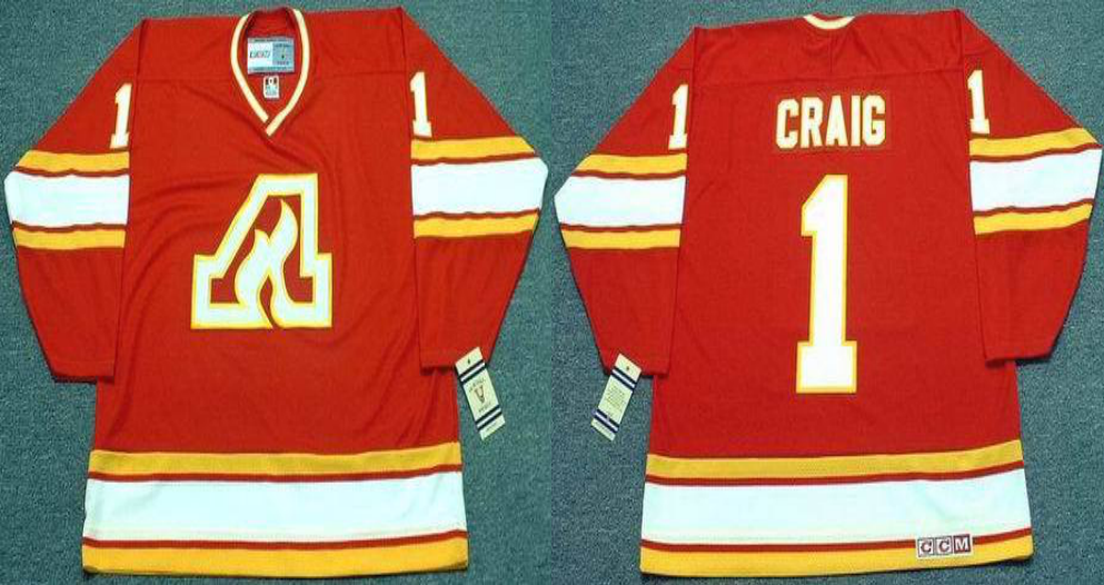 2019 Men Calgary Flames 1 Craig red CCM NHL jerseys