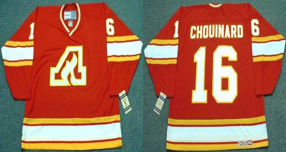 2019 Men Calgary Flames 16 Chouinard red CCM NHL jerseys