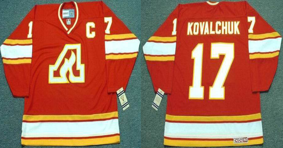 2019 Men Calgary Flames 17 Kovalchuk red CCM NHL jerseys