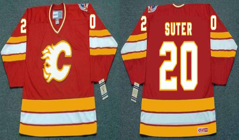 2019 Men Calgary Flames 20 Suter red CCM NHL jerseys