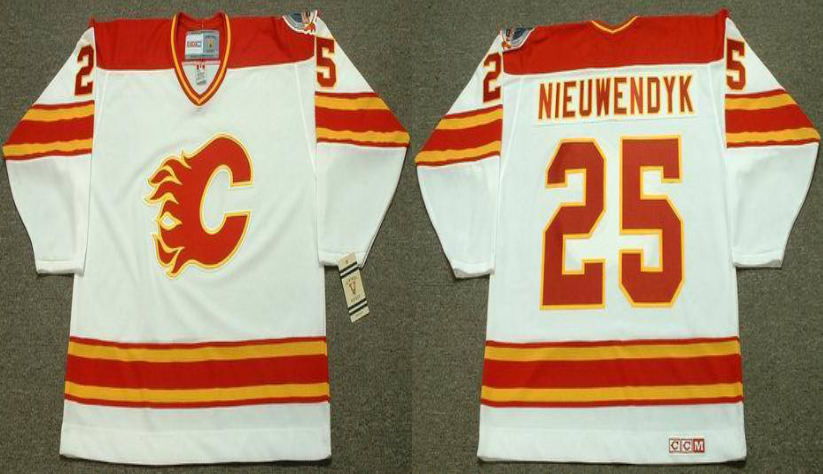 2019 Men Calgary Flames 25 Nieuwendyk white CCM NHL jerseys