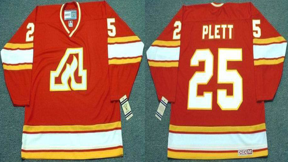 2019 Men Calgary Flames 25 Plett red CCM NHL jerseys
