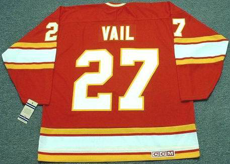 2019 Men Calgary Flames 27 Vail red CCM NHL jerseys