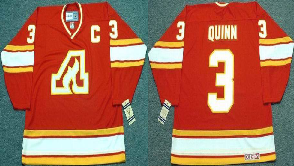 2019 Men Calgary Flames 3 Quinn red CCM NHL jerseys