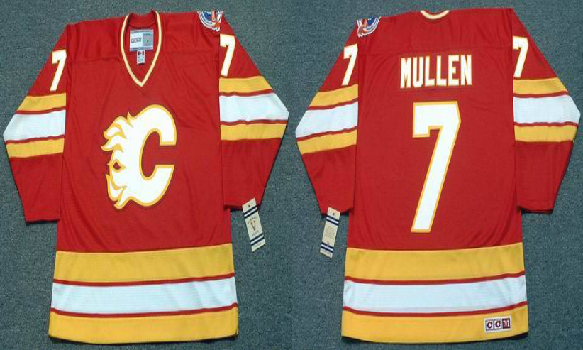 2019 Men Calgary Flames 7 Mullen red CCM NHL jerseys