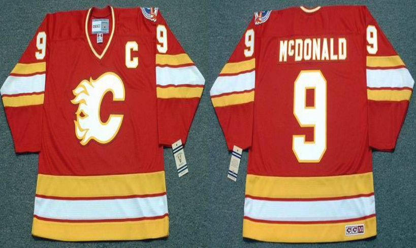 2019 Men Calgary Flames 9 McDONALD red CCM NHL jerseys