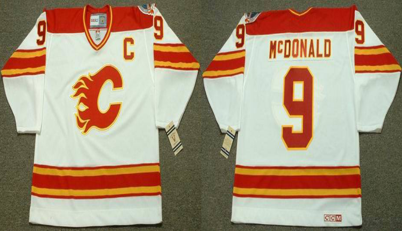 2019 Men Calgary Flames 9 McDONALD white CCM NHL jerseys