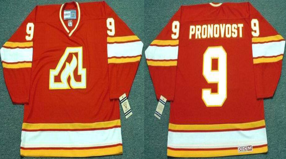 2019 Men Calgary Flames 9 Pronovost red CCM NHL jerseys