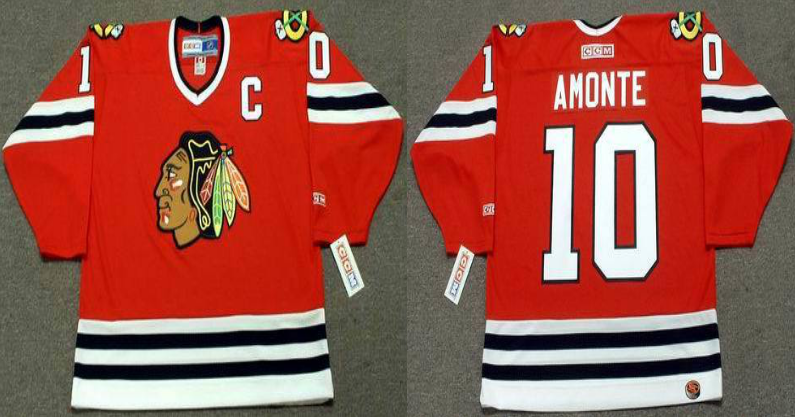 2019 Men Chicago Blackhawks 10 Amonte red CCM NHL jerseys