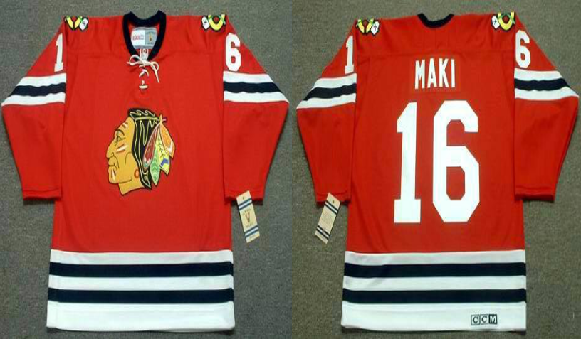 2019 Men Chicago Blackhawks 16 Maki red CCM NHL jerseys