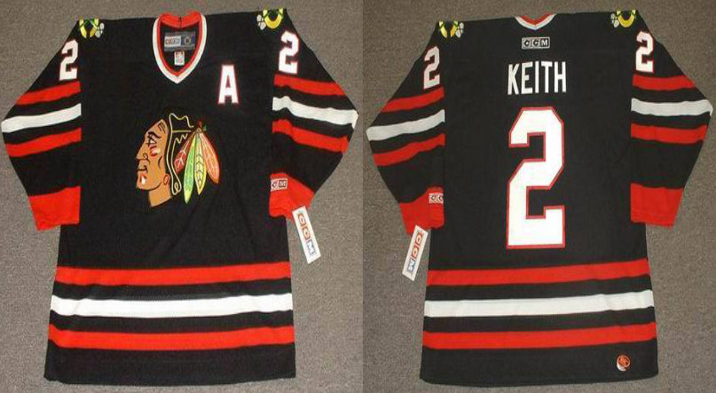 2019 Men Chicago Blackhawks 2 Keith black CCM NHL jerseys