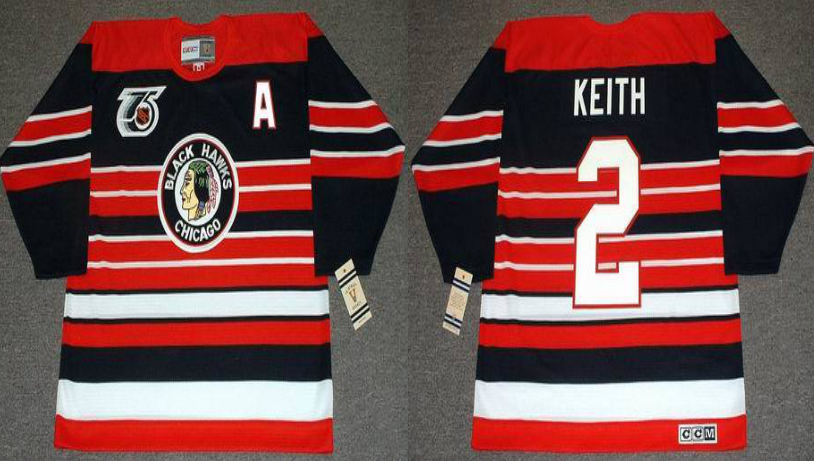 2019 Men Chicago Blackhawks 2 Keith red CCM NHL jerseys