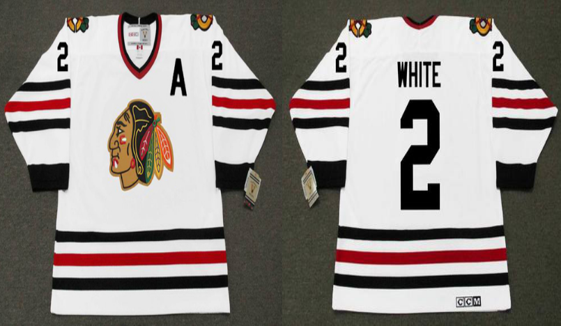 2019 Men Chicago Blackhawks 2 white white CCM NHL jerseys