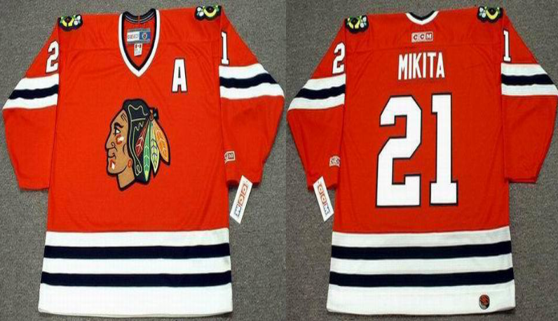 2019 Men Chicago Blackhawks 21 Mikita red style2 CCM NHL jerseys