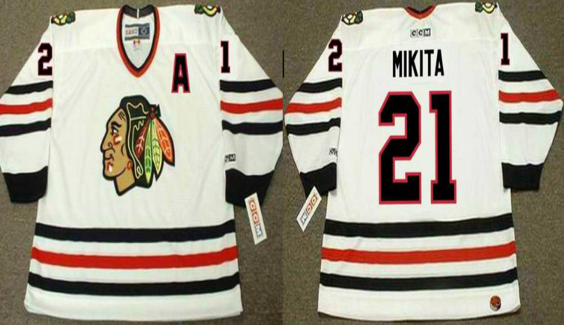 2019 Men Chicago Blackhawks 21 Mikita white CCM NHL jerseys