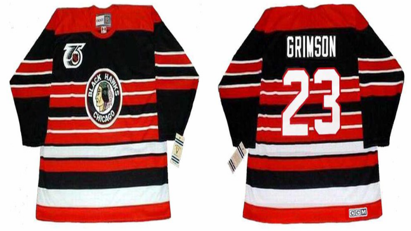 2019 Men Chicago Blackhawks 23 Grimson red CCM NHL jerseys