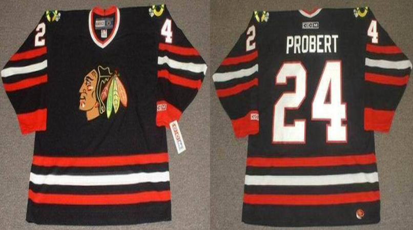 2019 Men Chicago Blackhawks 24 Probert black CCM NHL jerseys