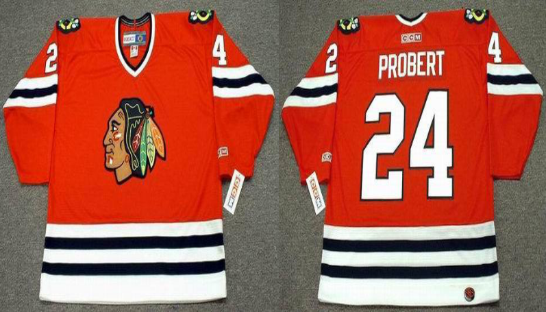 2019 Men Chicago Blackhawks 24 Probert red CCM NHL jerseys