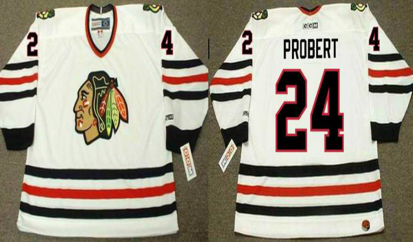 2019 Men Chicago Blackhawks 24 Probert white CCM NHL jerseys
