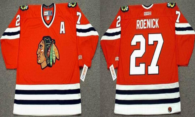 2019 Men Chicago Blackhawks 27 Roenick red CCM NHL jerseys