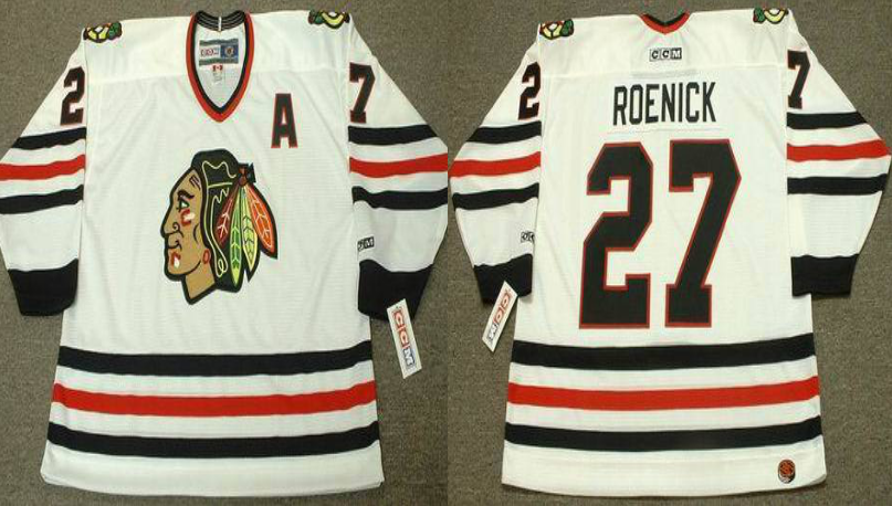 2019 Men Chicago Blackhawks 27 Roenick white CCM NHL jerseys