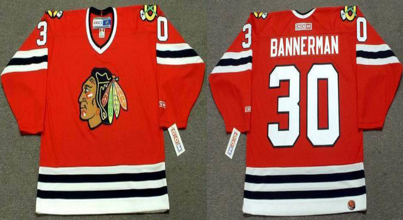 2019 Men Chicago Blackhawks 30 Bannerman red CCM NHL jerseys