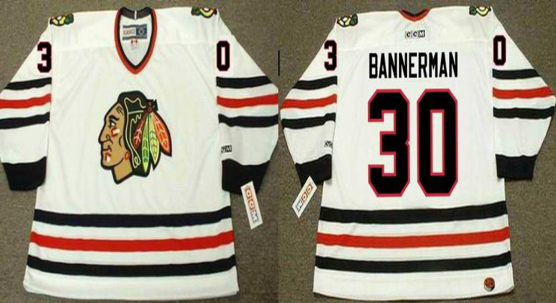 2019 Men Chicago Blackhawks 30 Bannerman white CCM NHL jerseys