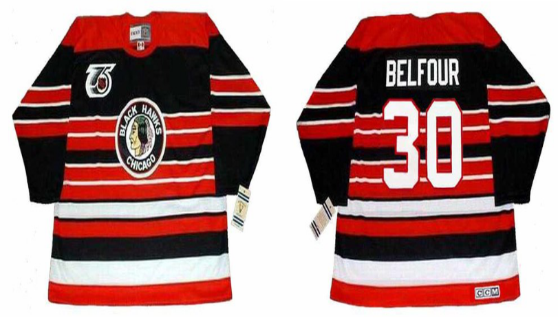 2019 Men Chicago Blackhawks 30 Belfour red CCM NHL jerseys
