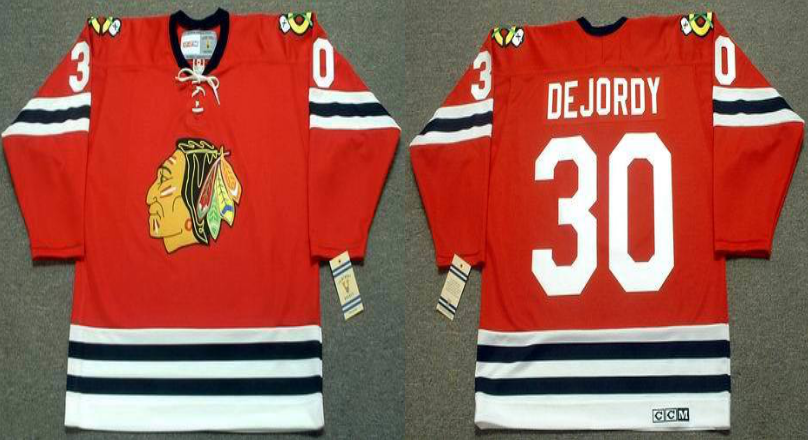 2019 Men Chicago Blackhawks 30 Dejordy red CCM NHL jerseys
