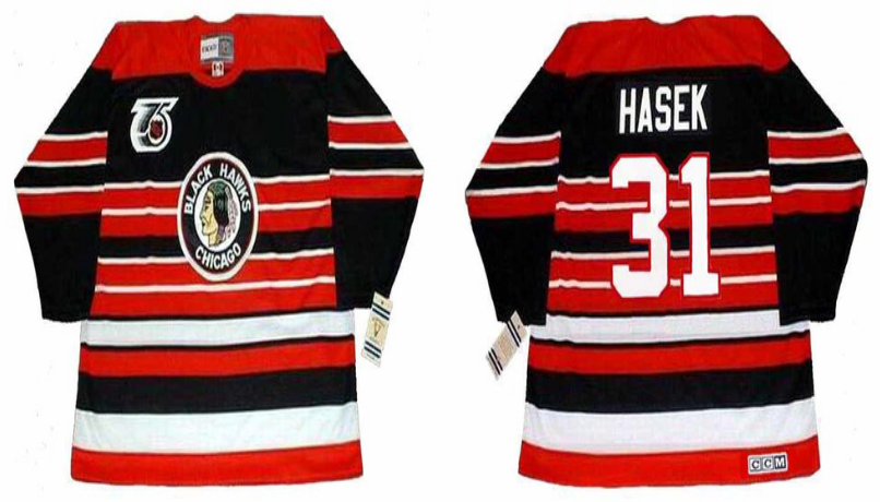 2019 Men Chicago Blackhawks 31 Hasek red CCM NHL jerseys