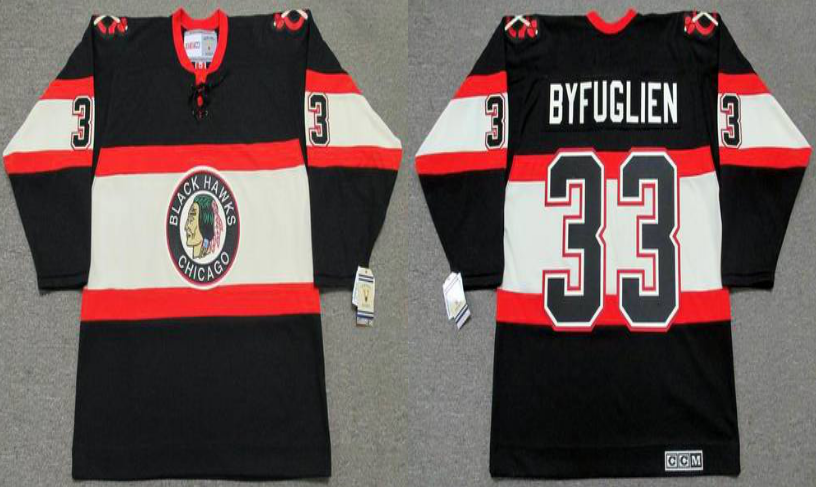2019 Men Chicago Blackhawks 33 Byfuglien black CCM NHL jerseys