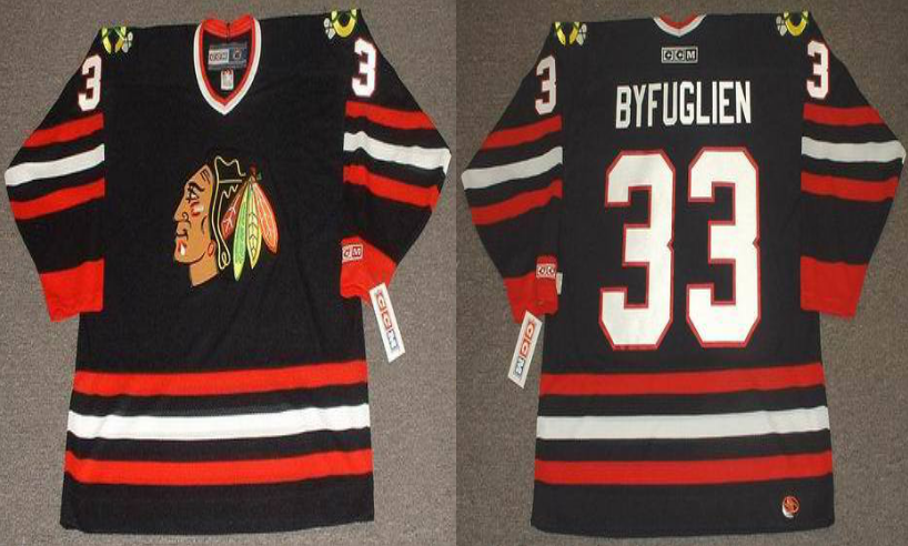 2019 Men Chicago Blackhawks 33 Byfuglien black style 2 CCM NHL jerseys