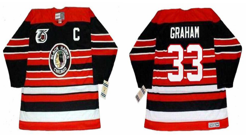 2019 Men Chicago Blackhawks 33 Graham red CCM NHL jerseys