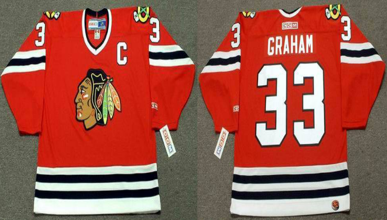 2019 Men Chicago Blackhawks 33 Graham red style 2 CCM NHL jerseys