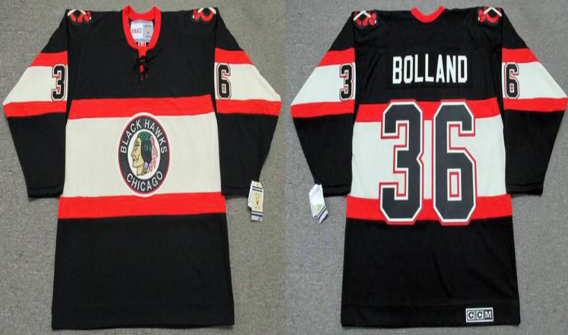 2019 Men Chicago Blackhawks 36 Bolland black CCM NHL jerseys