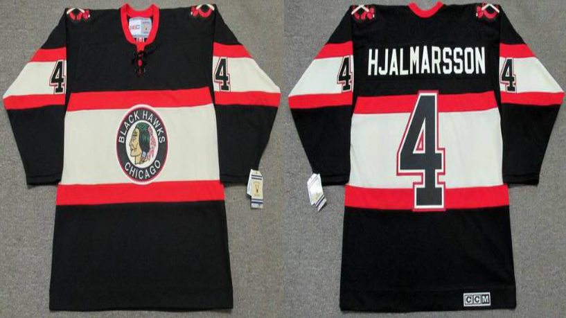 2019 Men Chicago Blackhawks 4 Hjalmarsson black CCM NHL jerseys