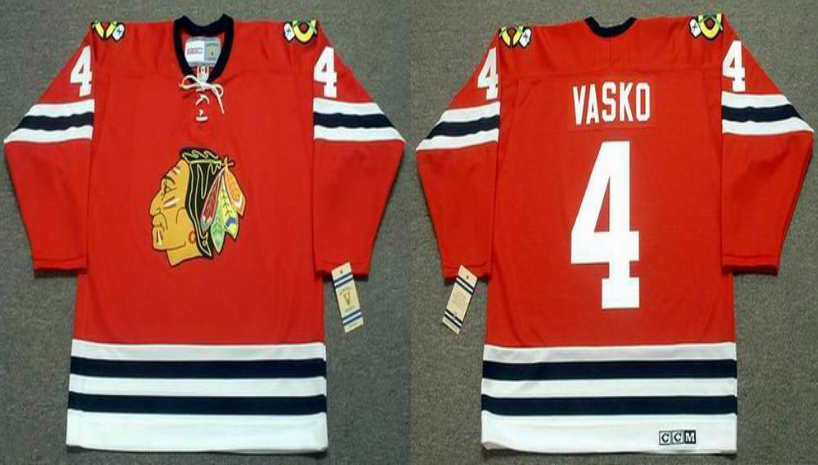 2019 Men Chicago Blackhawks 4 Vasko red CCM NHL jerseys