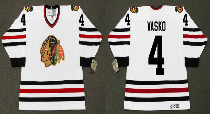 2019 Men Chicago Blackhawks 4 Vasko white CCM NHL jerseys
