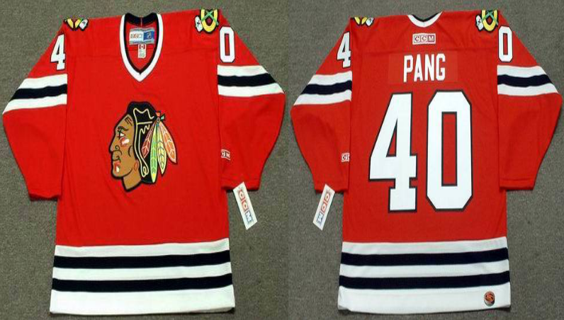 2019 Men Chicago Blackhawks 40 Pang red CCM NHL jerseys