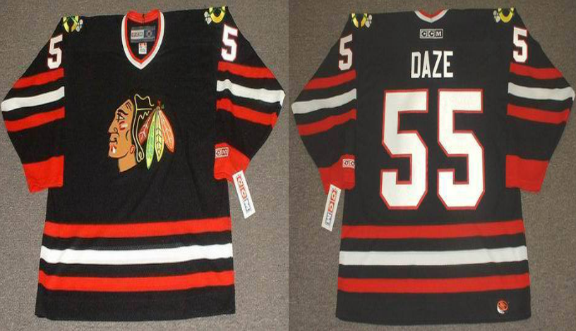 2019 Men Chicago Blackhawks 55 Daze black CCM NHL jerseys