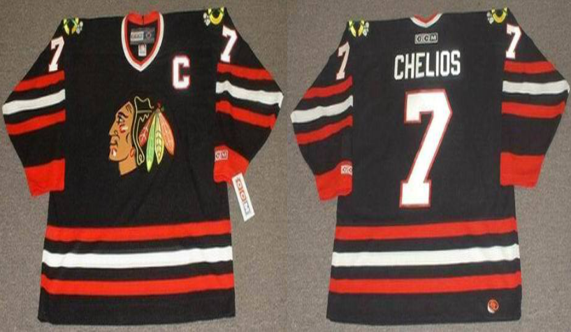 2019 Men Chicago Blackhawks 7 Chelios black CCM NHL jerseys