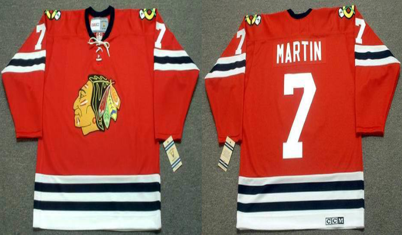 2019 Men Chicago Blackhawks 7 Martin red CCM NHL jerseys
